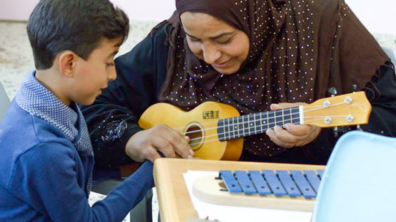 Gaza UNRWA instit ukulele